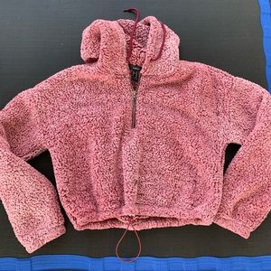 Forever 21 cropped hooded sweatshirt